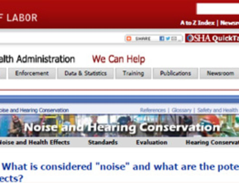 OSHA Occupational Noise Exposure